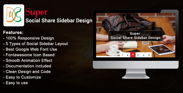 Download Super - Social Share Sidebar nulled download