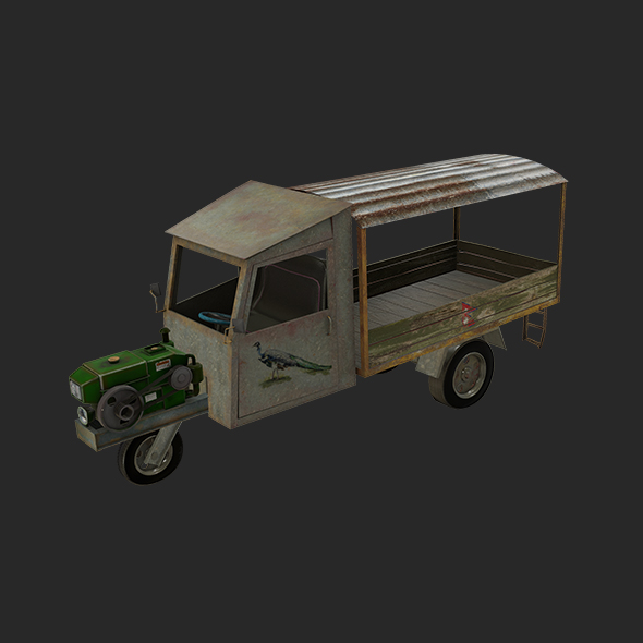 Old Tractor/ Chinese Tractor Low Poly - 3DOcean Item for Sale