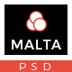 MALTA – Multipurpose One Page PSD Template
