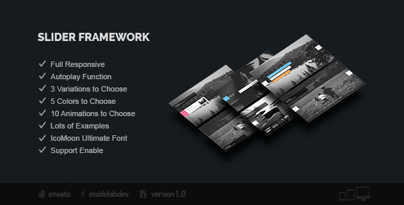 Slider Framework - CodeCanyon Item for Sale