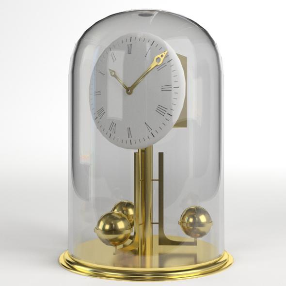 Fireside Clock - 3DOcean Item for Sale