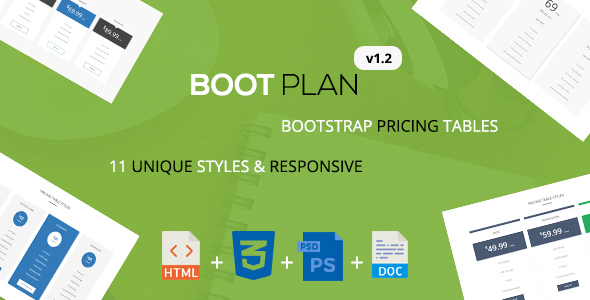 Download Bootplan - A Responsive Bootstrap Pricing Tables