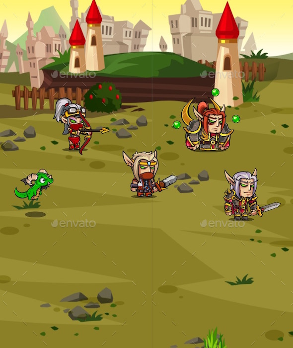 Light Elf - 2D RPG Creature Pack (Sprites)