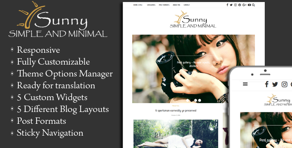 Download Sunny - Simple and Minimal WordPress Theme