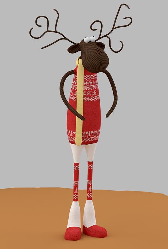 Christmas Deer Toy - 3DOcean Item for Sale