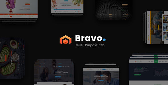 Bravo - Multi-Purpose PSD Template