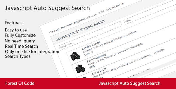 Download Javascript Auto Suggest Search nulled download