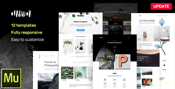 Moon - Responsive Portfolio Adobe Muse Templates Free | Nulled Scripts