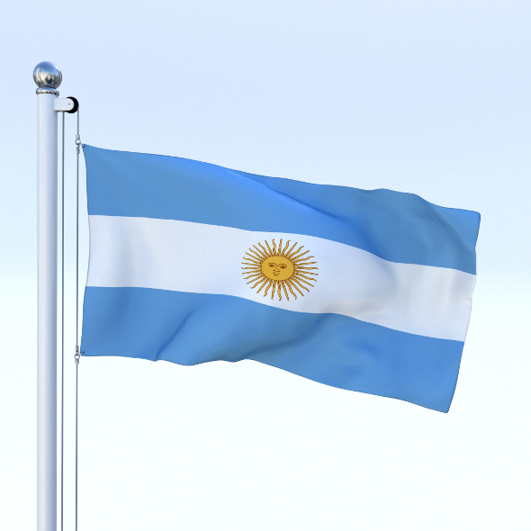 Animated Argentina Flag - 3DOcean Item for Sale