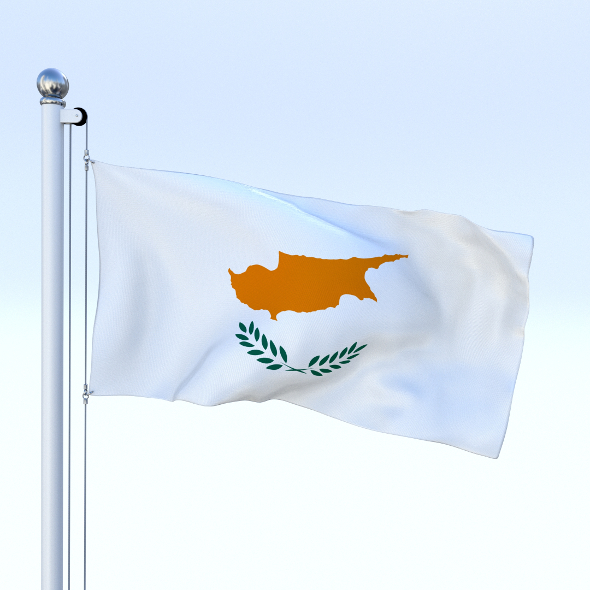 Animated Cyprus Flag - 3DOcean Item for Sale
