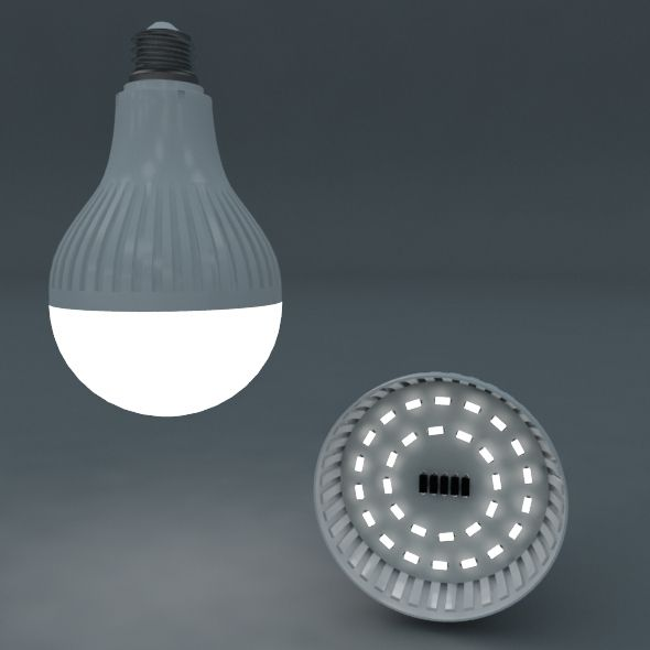 led bulb - 3DOcean Item for Sale