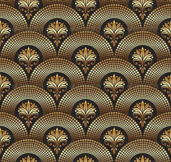 Seamless Ornate Golden Pattern