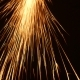 Sparks Frying During Metal Grinding
