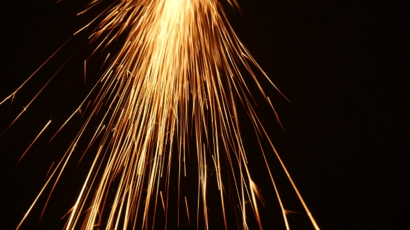 VideoHive Sparks Frying During Metal Grinding 18607264