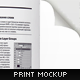 Open Book or Magazine Mock-up Print Template - GraphicRiver Item for Sale