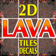 Lava Game Backgrounds Tiles and Decals