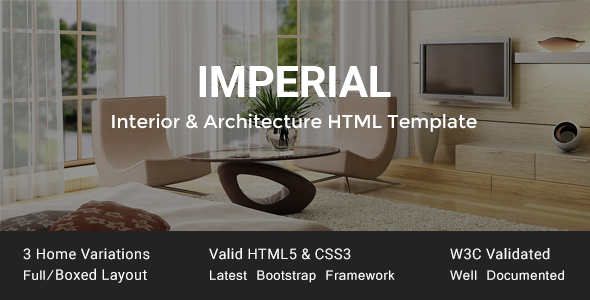 Imperial - Interior & Architecture HTML Template