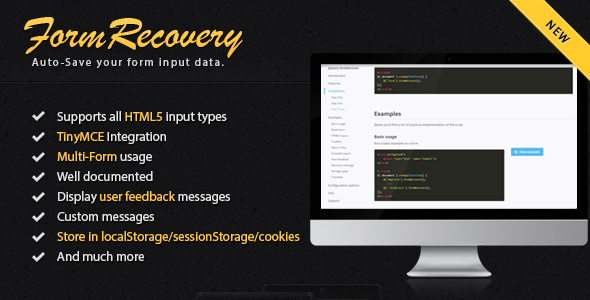 Download jQuery Form Recover nulled download