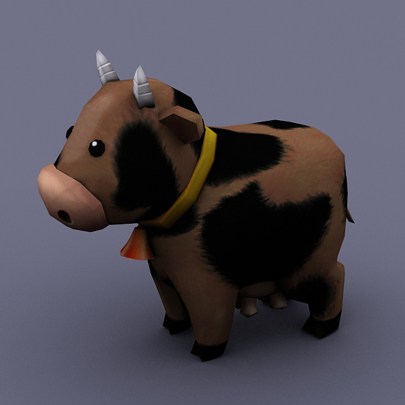 funny cow brown - 3DOcean Item for Sale