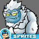 Yeti  Monsters 2D Game Chracter Sprites 270