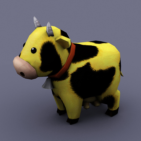 funny cow yellow - 3DOcean Item for Sale
