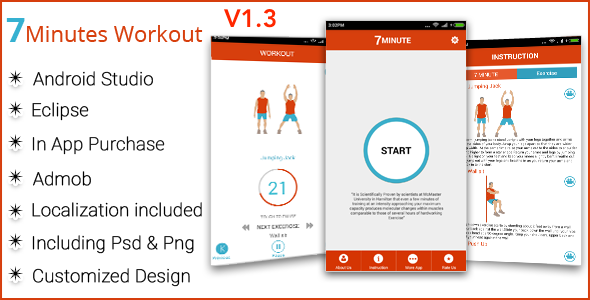 7 Minute Workout Android Full Application - CodeCanyon Item for Sale