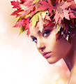 Autumn Woman. Beautiful creative makeup - PhotoDune Item for Sale