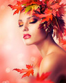 Beautiful Autumn Woman - PhotoDune Item for Sale