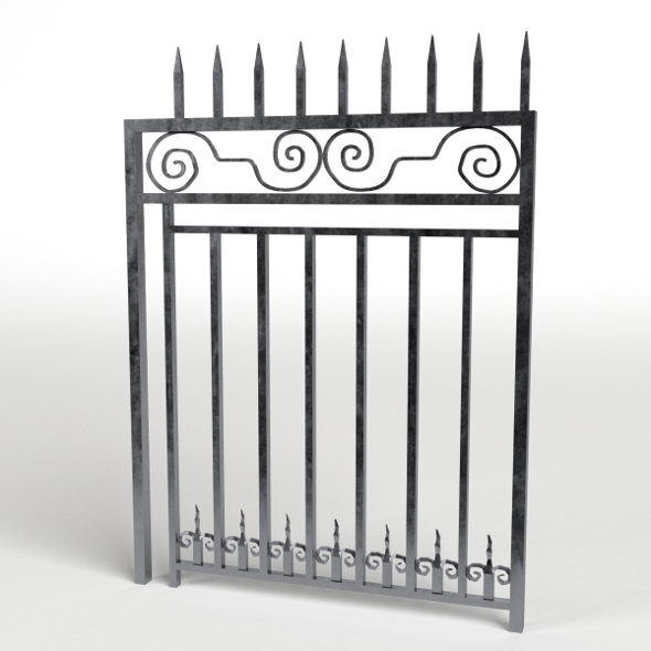 Iron Gate 1 - 3DOcean Item for Sale