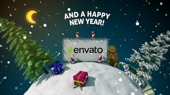 New Year card 3D