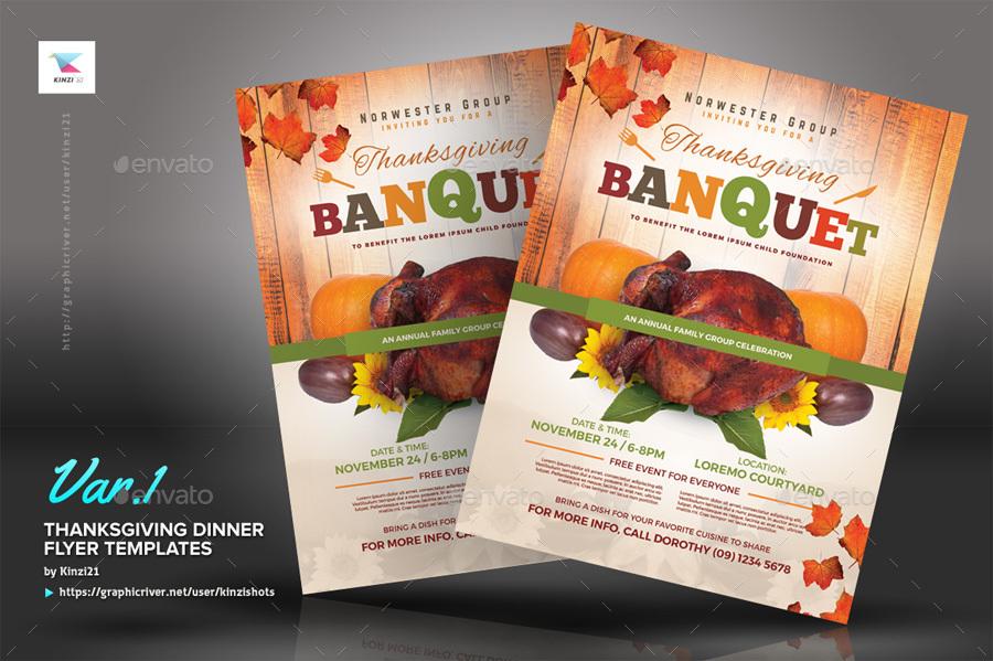 Thanksgiving Dinner Flyer Templates by kinzishots – Dinner Flyer