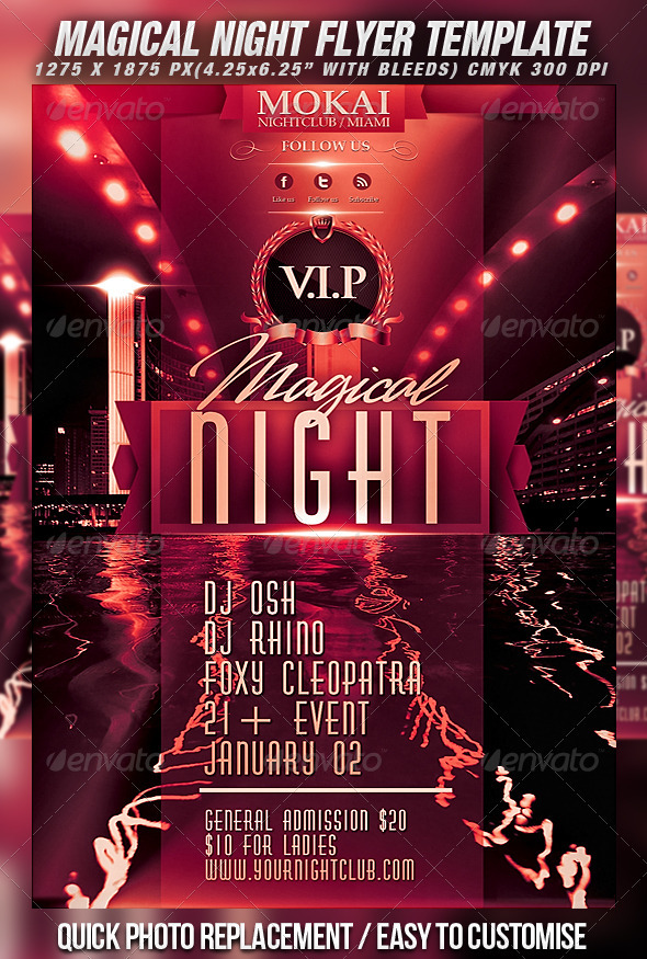 GraphicRiver Magical Night Flyer Template 870611