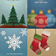 Retro Vintage Christmas Cards/Invitation Pack