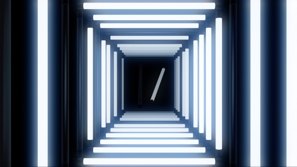 VideoHive Glow White Lights Tunnel 18620742
