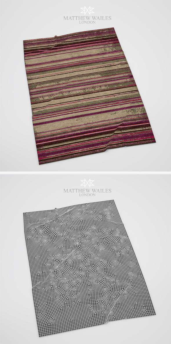 Rug Faded Stripe - 3DOcean Item for Sale