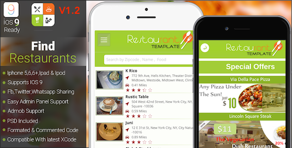 Restaurants finder With Backend Support IOS Full Application - CodeCanyon Item for Sale