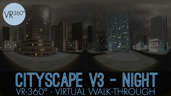 Download VR-360° Cityscape V3 Night nulled download