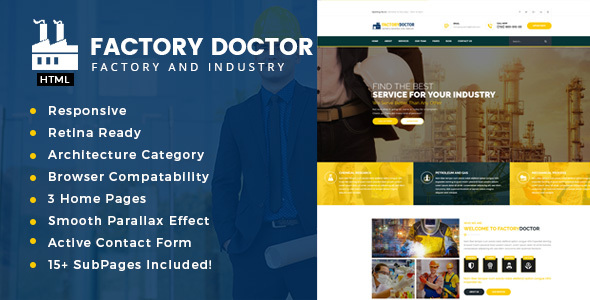 Download Factory Doctor - Factory & Industrial Business Template