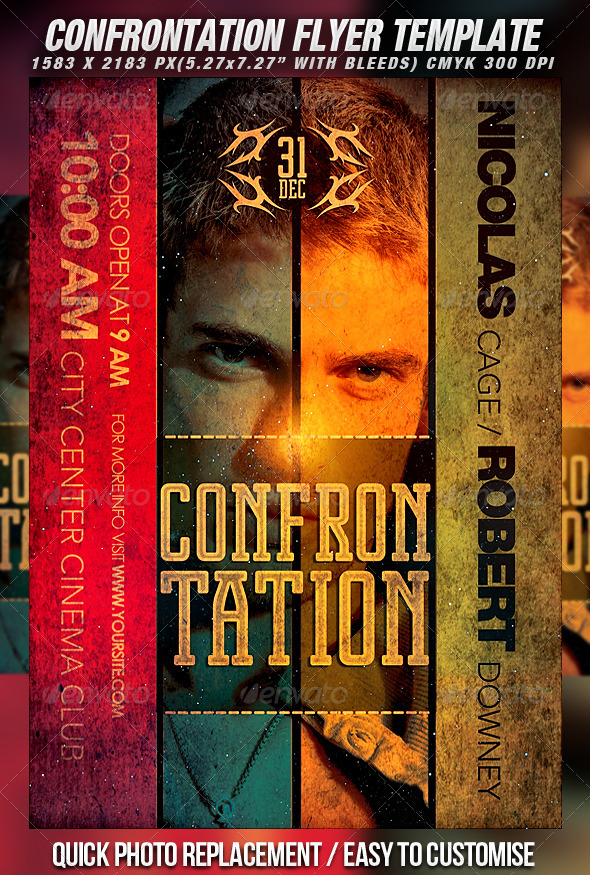 GraphicRiver Confrontation Poster Template 828456