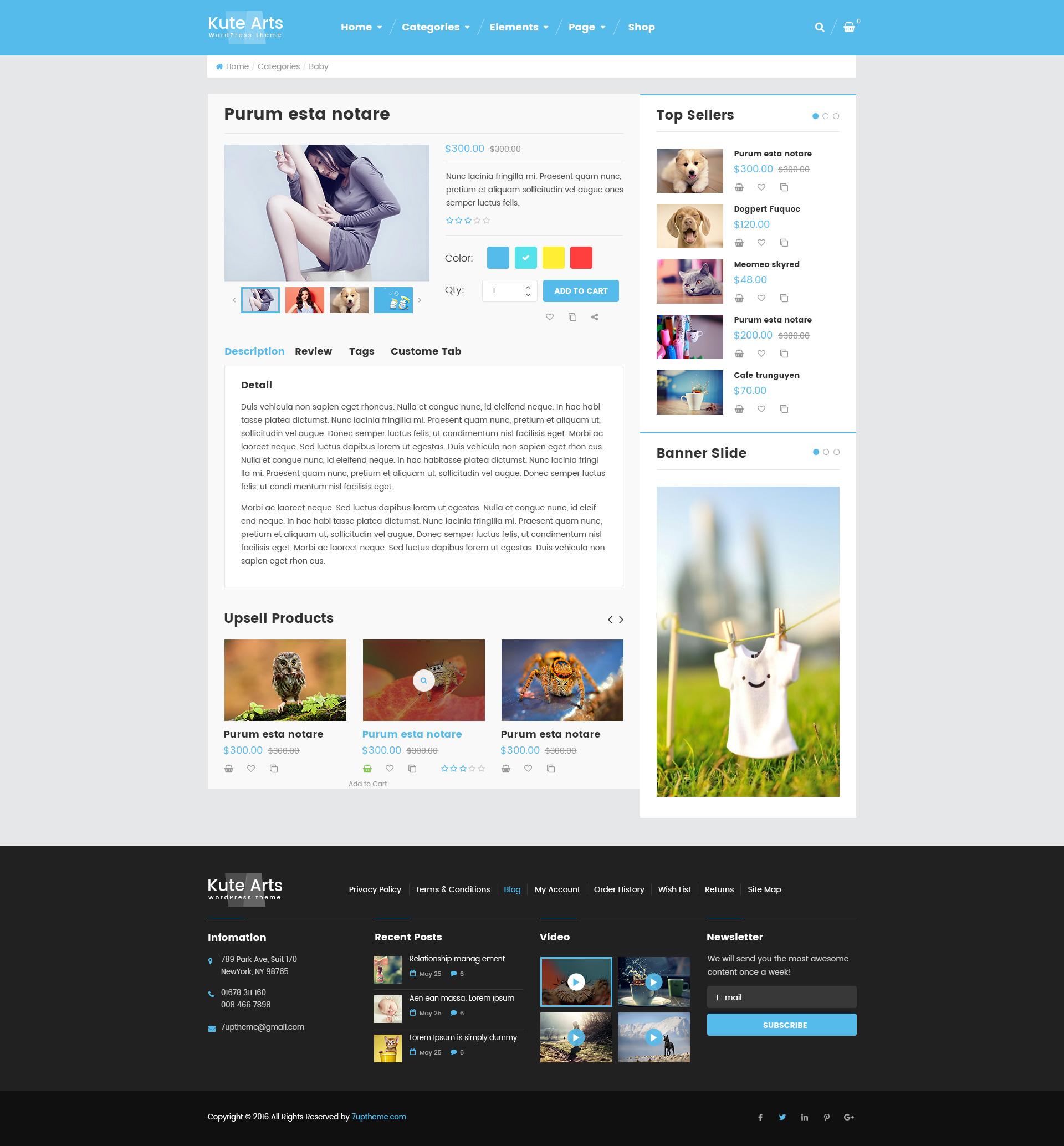 Gmail themes dynamic - Kute Arts Blog Wordpress Theme