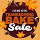 Thanksgiving Bake Sale Flyer Template