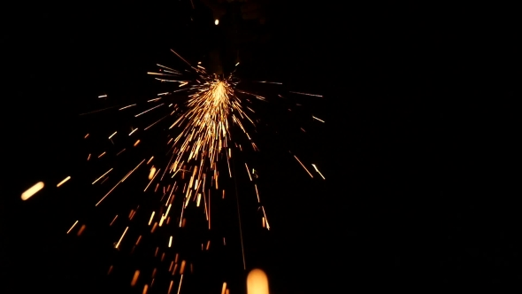 VideoHive Sparks Frying During Metal Grinding 18625642