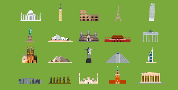 VideoHive 20 World Landmarks 18626404