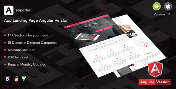 Appestia - App Landing Page Angular Version