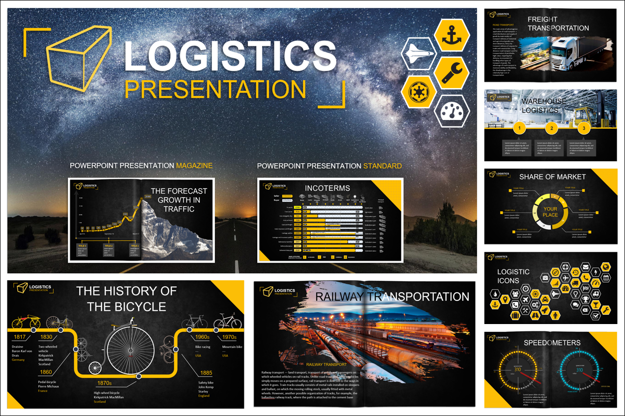 logistics powerpoint template by maks198505 graphicriver