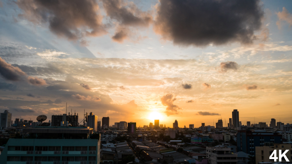 VideoHive Sunset In Downtown City 18627680