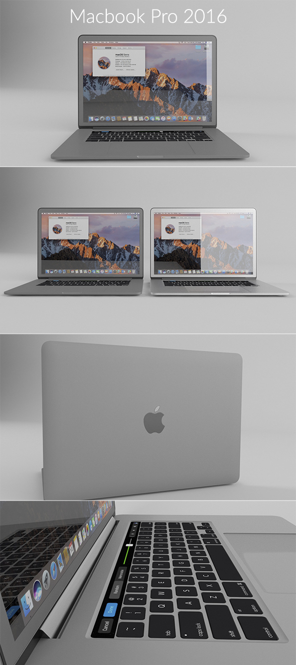 Macbook Pro 15-inch 2016 - 3DOcean Item for Sale