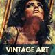 Vintage Art Grunge Photo Template
