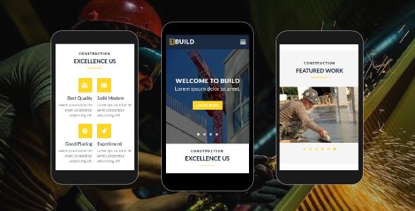 Build - Construction Mobile Template