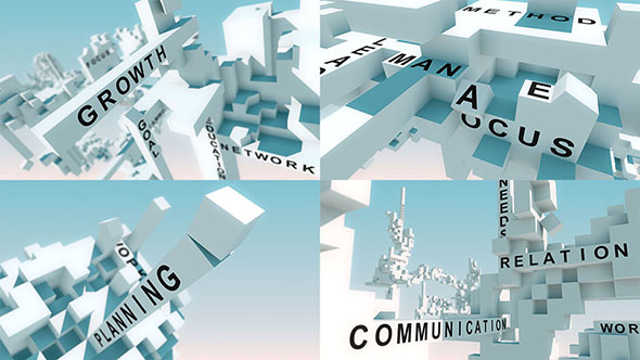 Download Words Animated With Cubes nulled download